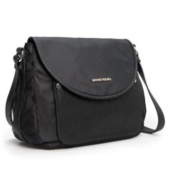 MNG Mango Nylon Crossbody Bag (Black) - 2
