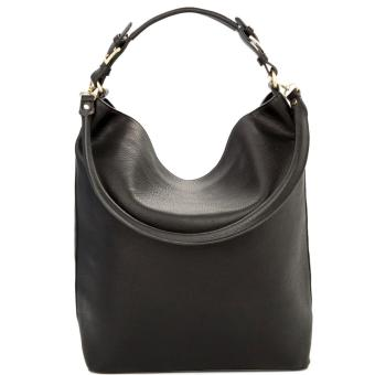 MNG Mango Pebbled Crescent Hobo Bag (Black) Price Philippines