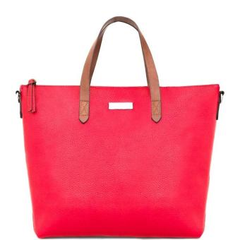 MNG Mango Pebbled Two Way Tote Bag (Red)