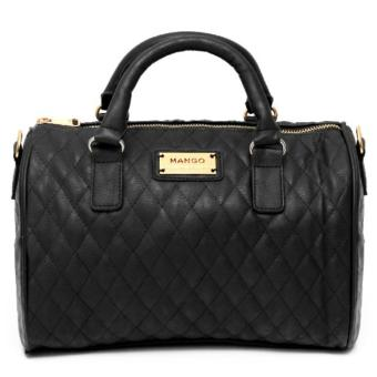 MNG Mango Quilted Bowling Bag (Black) Price Philippines