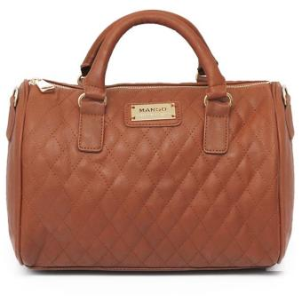 MNG Mango Quilted Bowling Bag (Caramel) Price Philippines