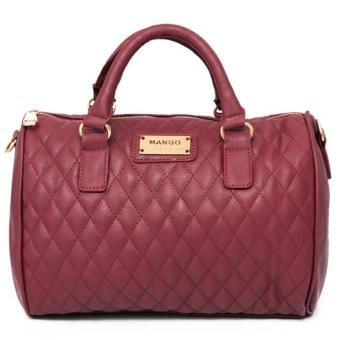 MNG Mango Quilted Bowling Bag (Red) Price Philippines