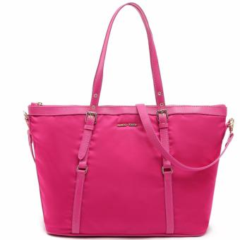 MNG Mango Tessuto Shopper Zip Tote Bag (Pink)