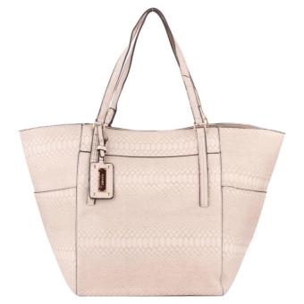 MNG Mango Textured Shopper Tote Bag (Cream)