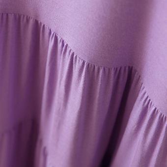 Modal Fashion Formal Maternity Short-sleeved Cake Dresses BiggerSizes Pregnant Woman Unlined Upper Garment Skirt Free Size SapphireBlue - intl - 4