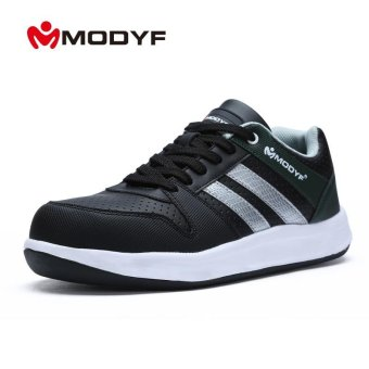 Modyf Men steel toe cap work safety shoes unisex breathable outdoorfootwear biker boot puncture proof skateboard shoes - intl