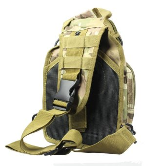 Molle Tactical Sling Chest Bag Assault Pack Messenger Shoulder Bag Camouflage