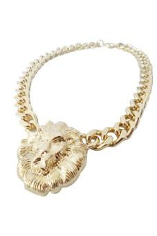 Moonar Lion Head Necklace Gold