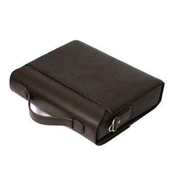 Moonar Tote Shoulder Leather Briefcase (Coffee)