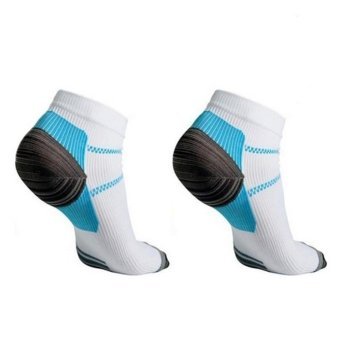 Moonar Veins Socks Compression With the Spurs for Plantar Fasciitis Arch Pain S/M - intl