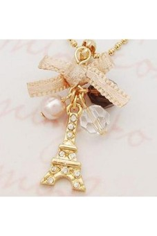Moonar Women Bowknot Tower Necklace - picture 2