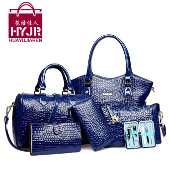 Mother's day spring and summer New style shoulder bag different size bags (Dark blue color 3302)