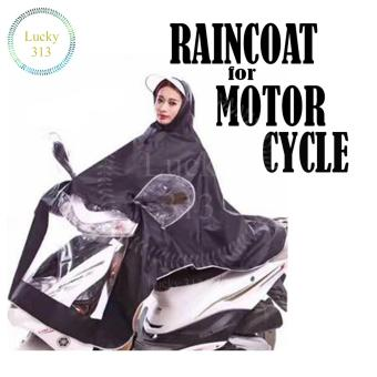Motorcycle Raincoat Moto Rain Coat (Black) Price Philippines