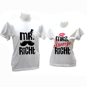 Mr Right & Mrs Always Right Couple Shirt (White) Price Philippines
