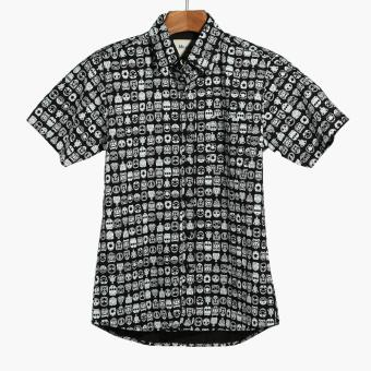 Mr. Smyth Mens Graphic Pattern Casual Shirt (Black) Price Philippines