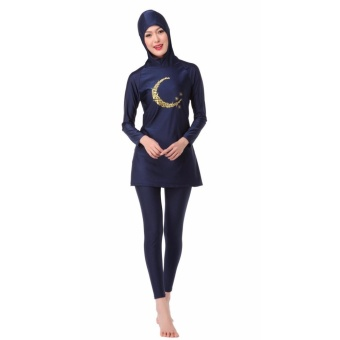 Ms new Muslim swimsuits conservative swimsuit beach bathing suitsBlack - intl