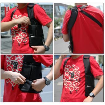 Multifunction Men's Anti-Theft Hidden Underarm Shoulder Bag Holster Black - 5