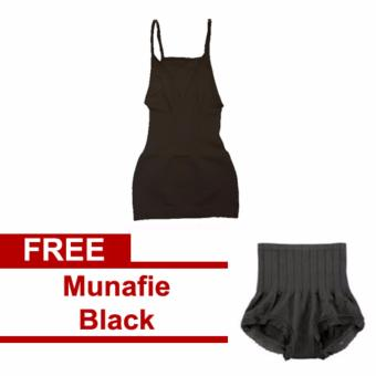 Munafie Camisole Black with Munafie Black Panty