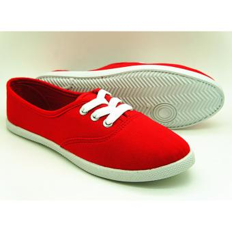 Muse Vanessa Lace-up Sneakers (Red)