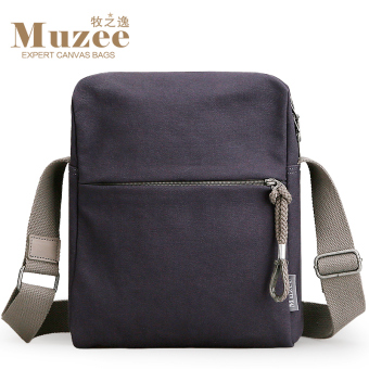 MUZEE youth small backpack New style canvas bag (Blue/Black) (Blue/Black)