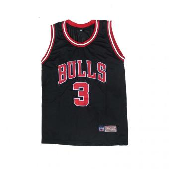 NBA Basketball Jersey Sando Adult Bulls 3 Wade (BLACK) Price Philippines