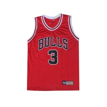 NBA Basketball Jersey Sando Adults Bulls 3 Wade (RED) Price Philippines