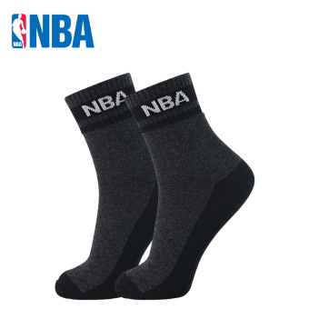 NBA curled wool men warm bottom athletic socks basketball socks (Deep flower gray curled wool thick)
