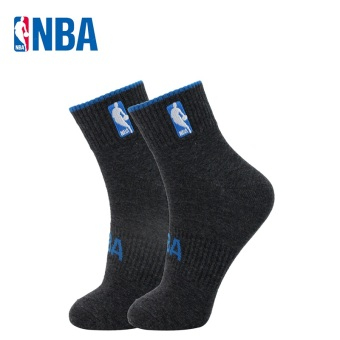 NBA Men's Athletic Combed Cotton Socks - Solid Color (Deep flower gray/Dian Lan)