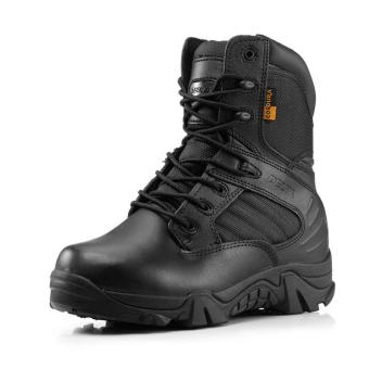 New Army Tactical Desert Mens Leather Combat Boots Military Shoes Soldier BLACK - Intl - 4