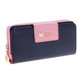 New Arrival High Quality Women Wallet Brand Women's Bag (Blue+Pink)