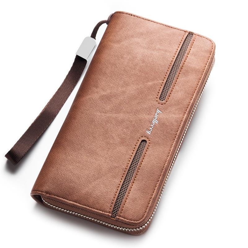 New Baellerry Fashion Charm Men Long Section Multi-card BitUltra-thin Wallet- Black - intl
