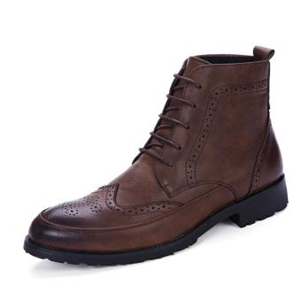 New Classic Men'S Real Leather Ankle Boots (Brown) intl