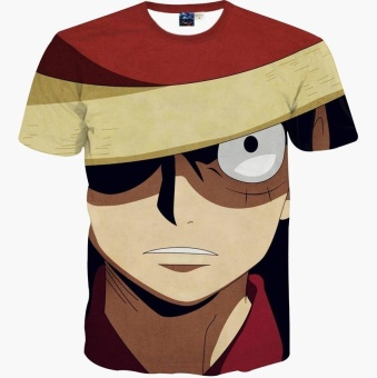 New Fashion Brand T-shirt Hip Hop 3d Print One Piece Harajuku Animation 3d T shirt Summer Cool Tees Tops Brand Clothing - intl Price Philippines