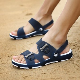 New Fashion Men's Sandals, Beach Slippers, Summer Shoes, Cool Non-slip. (blue) - intl