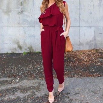 New Fashion Women Ladies Jumpsuit Romper Trousers - intl