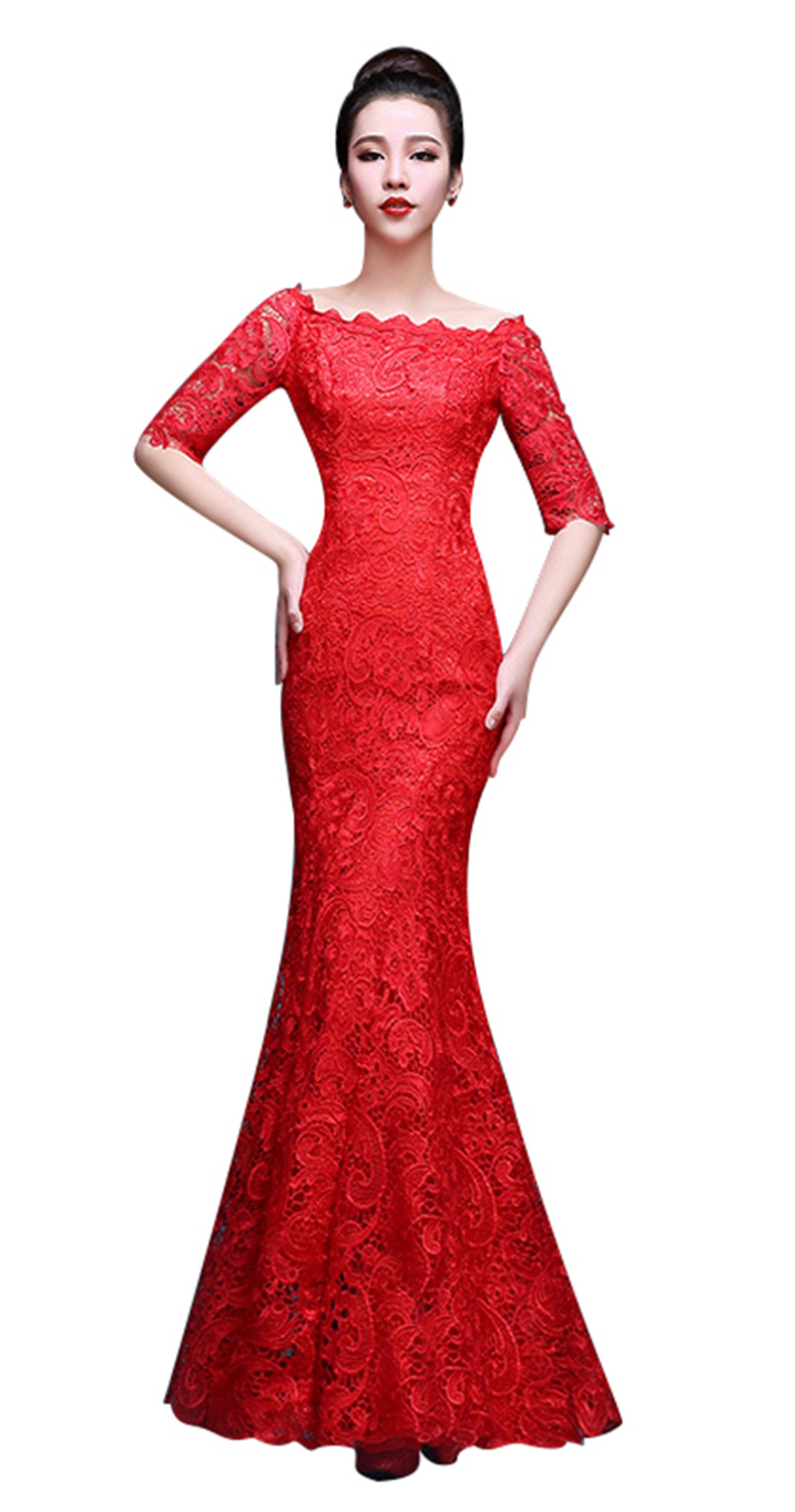 Philippines | New Hot Sale Elegant Mermaid Red Long Evening Dresses ...