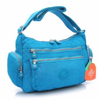 new Kipling Women's Nylon waterproof Messenger bag Travel The single shoulder bag(sky blue) - intl