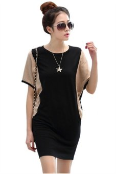 new korean fashion women short sleeve casual dress hds046