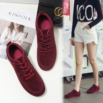 New Ladies Fashion Sports Shoes Korean Version of the Tide Line with Students Running Shoes Flat Bottom Work Shoes - intl Price in Philippines