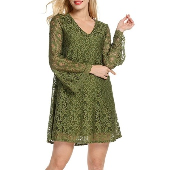 New loose lace dress sexy for cocktail party High quality dress - intl