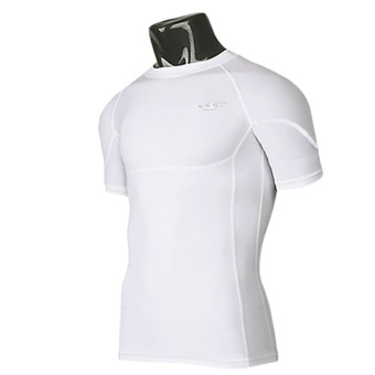 New Men''''s Compression Under Base Layer Gear Short Sleeve Tights Wear Armour Shirt'' - Intl' Price Philippines