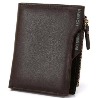 New Men's Fashion Wallet Leather Vintage Design Wallet Card Wallet - Brown - intl