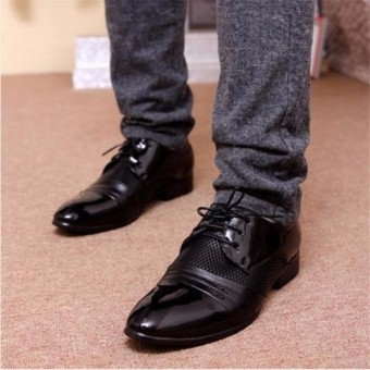 New Men's Dress Formal Oxfords Leather shoes Business Casual Shoes - 2