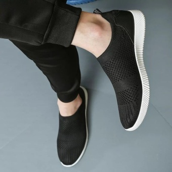 New men's sneakers/breathable leisure shoes/Korean canvas shoes(k07black) - intl