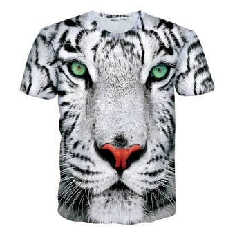New Mens T Shirts Fashion 3D T Shirt Men Short Sleeve animalPrinted Men Casual tshirt male Creative Designed Shirts For Men - -Intl