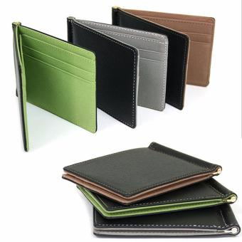 New Money Clips Men Wallet Multifunctional Colorful Ultra-thin Men Purses 3 colors (Green) - intl