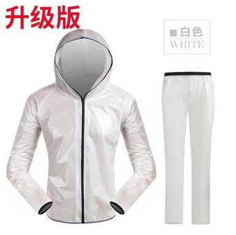 New Outdoor Men And Women Split Raincoat Rain Pants Suit ThickElectric Motorcycle Riding Clothes - intl