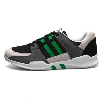 New style autumn casual men's shoes athletic shoes (316 gray green)