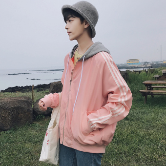 New style autumn hooded jacket men's jacket (Lotus color)