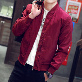 New style autumn jacket men's jacket (8865 red)